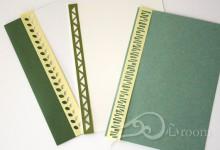 紙を切るセラピー1 カード飾り帯