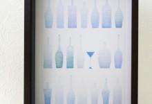 色を塗るセラピー 1 ワインボトル