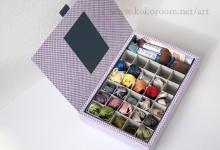 刺繍糸 収納ボックスを作る