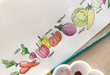 絵封筒- 野菜たち