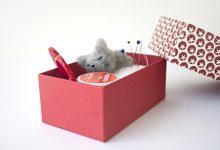 猫のミニ針箱