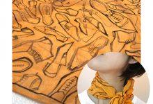 手描きのスカーフを作る