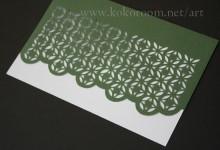 紙を切る3 和風なパターン柄