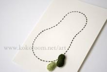 紙を縫う-green ひょうたん