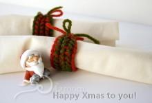 毛糸を編む クリスマスの小物