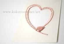 紙を縫う-pink bird