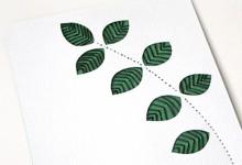 紙を縫う -green リーフ
