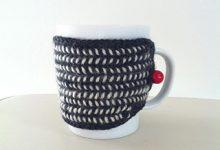 北欧風 毛糸のマグカップカバー