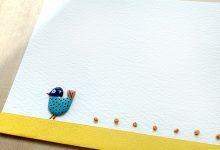 紙を縫う -yellow 鳥